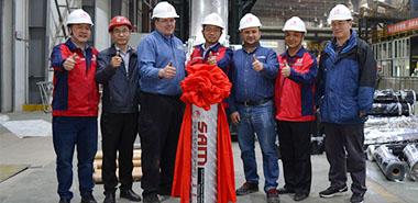 昆明东方雨虹3000型无胎卷材生产线顺利投产