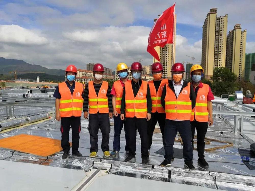 """东方雨虹、高能环境、天鼎丰驰援大亚湾""""方舱医院""""建设项目"""